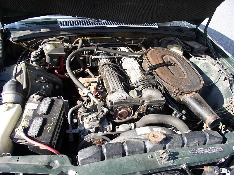 280se Engine Bay