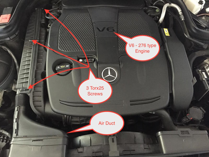 Pictorial On Air Filter Replacement For E350 Coupe