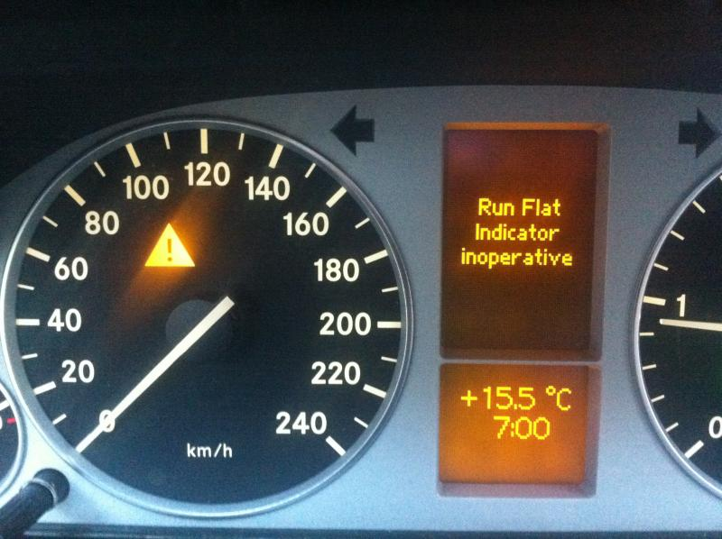 B class runflat and ESP error - Mercedes-Benz Forum