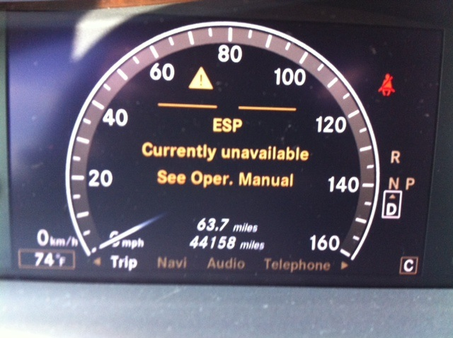 esp light mercedes intermittent warning benz class w221 offline