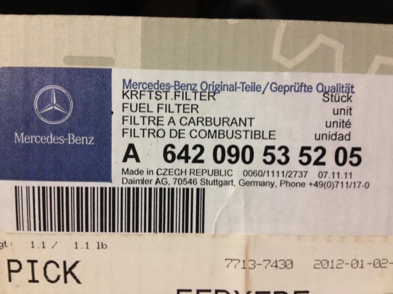 Fuel Filter Change - 2011 ML350 Bluetec - Mercedes-Benz Forum