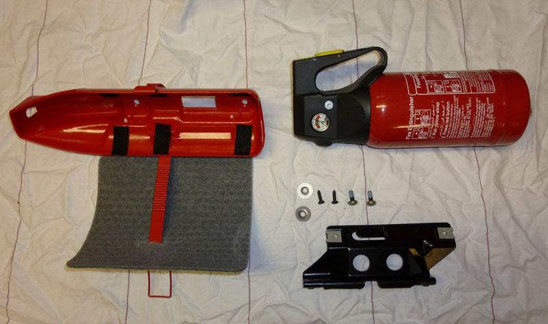 Installation Of Fire Extinguisher Option 682 Mercedes