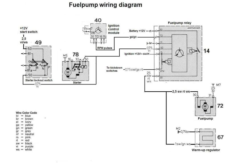 1984 500SEC Fuel Pump Relay And Rev Counter Not Working Mercedes - Dual Fuel Pump Wiring Kit