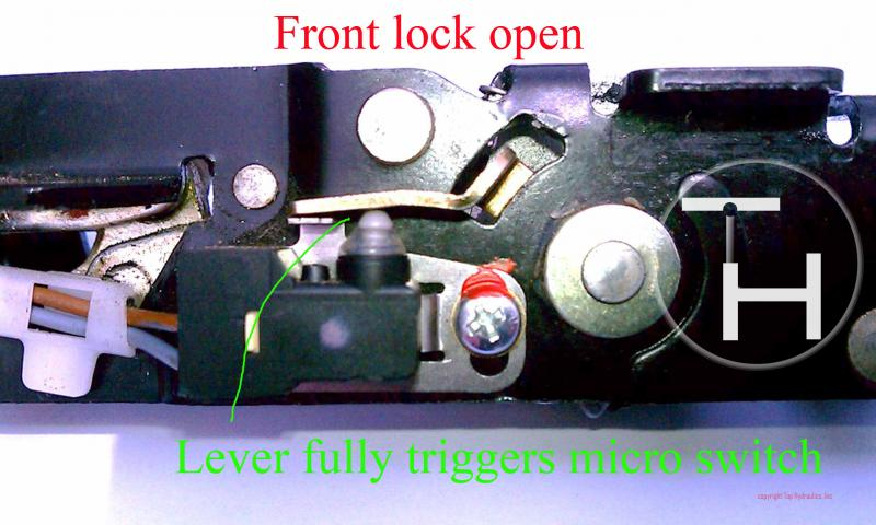 D Rear Latch Problem Solved Adjusted Front Front Lock Open Switch Pushed Down on 2013 Mercedes Clk Convertible