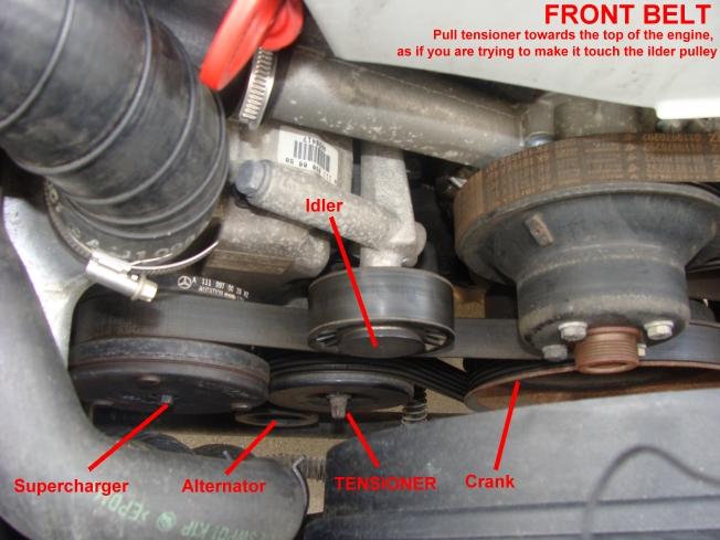 how to change belts on 98 slk230-front-pulley jpg