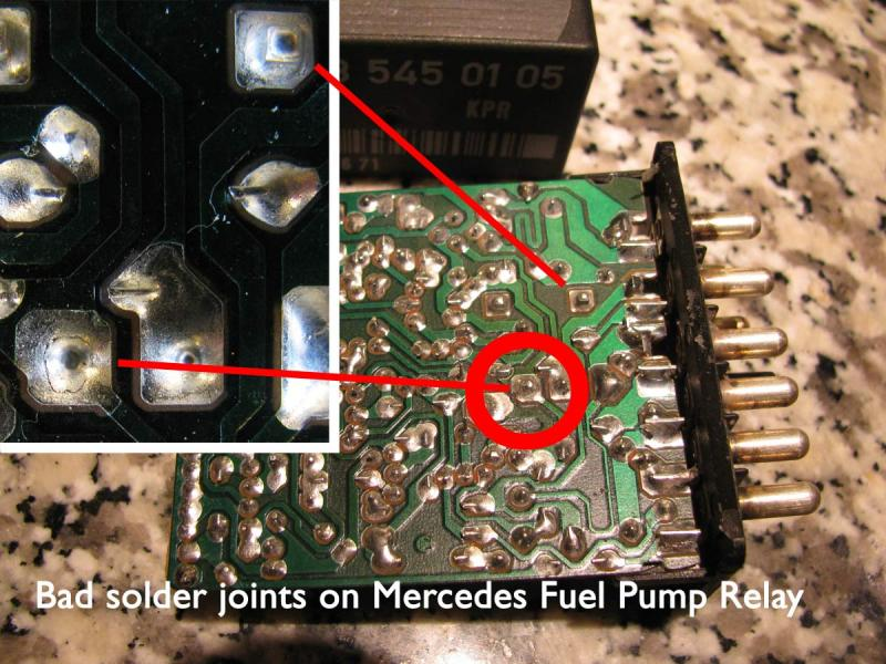 1988 mercedes 560 fuel pump fuse location