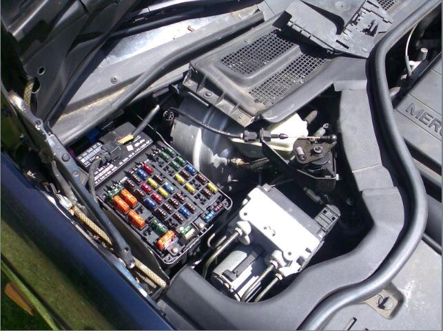 1986 Mercede Benz 560sl Fuse Box