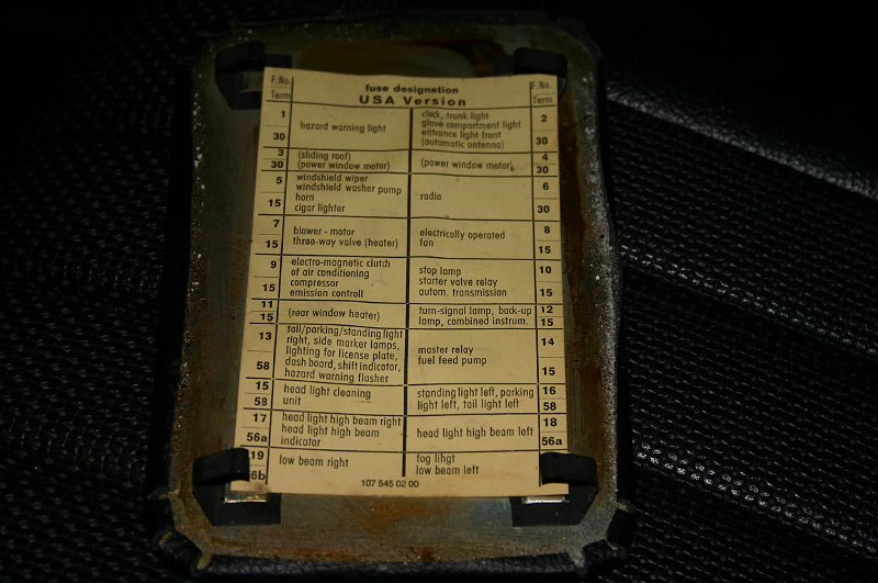 1973 450sl fuel pump issue mercedes benz forum sl euro w107 fuse panel cover 450 380