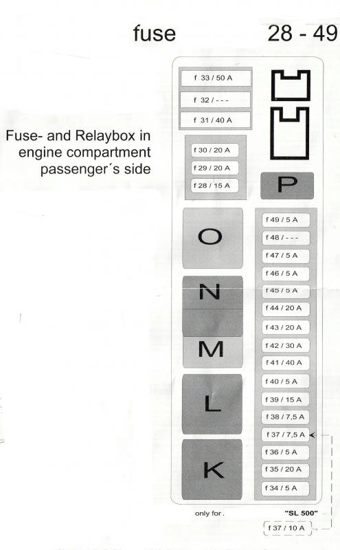 R230 Fuse And Relay Diagrams