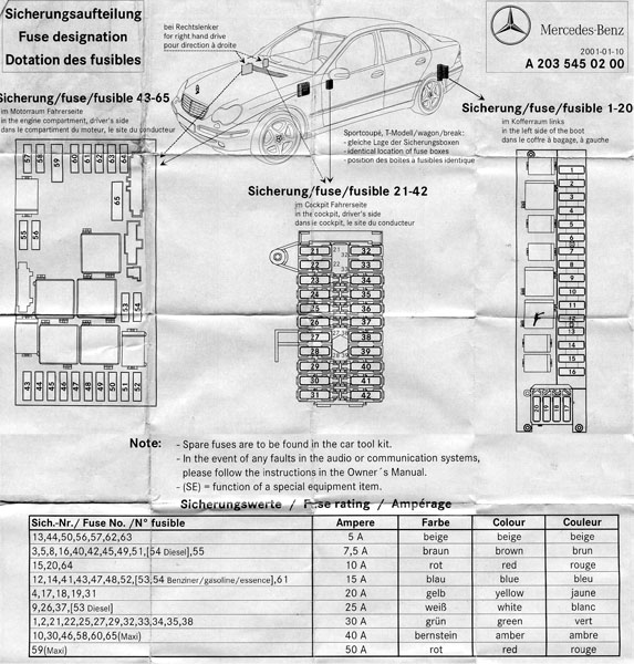 D Fuse Diagram W Fuses Diagram on 2004 mercedes c240 fuse box diagram