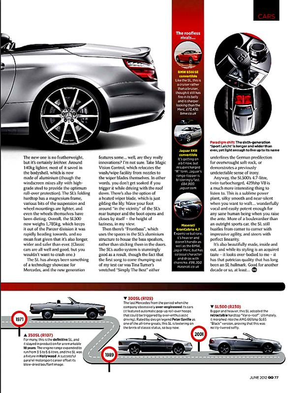 UK GQ Touts The R129 As Soon To Be Classic - Mercedes-Benz Forum