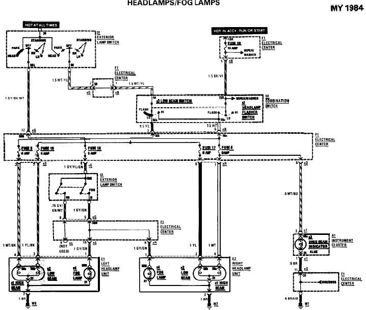 mercedes benz lights wiring diagram