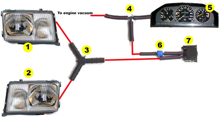 Euro Headlight Vacuum Adjustment Switch Installation Question
