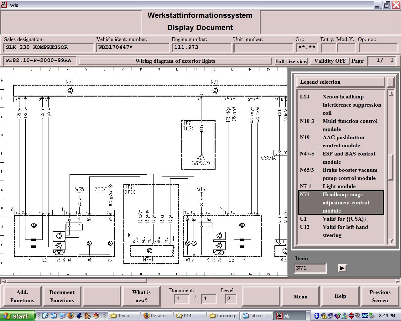 Mercedes E320 Headlight Wiring Diagram - Wiring Diagram ... on