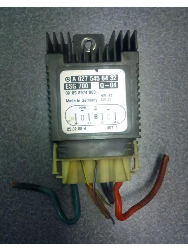 2000 S430 cooling fan relay control module location - Mercedes-Benz
