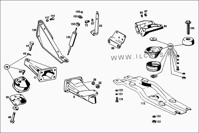 mercedes w108 engine parts diagram mercedes s55 engine accessories diagram w108 motor mounts - page 2 - mercedes-benz forum #6