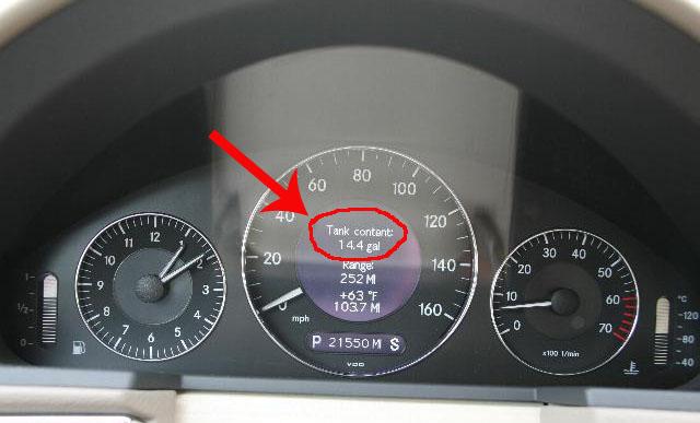 Mercedes benz e350 fuel tank capacity