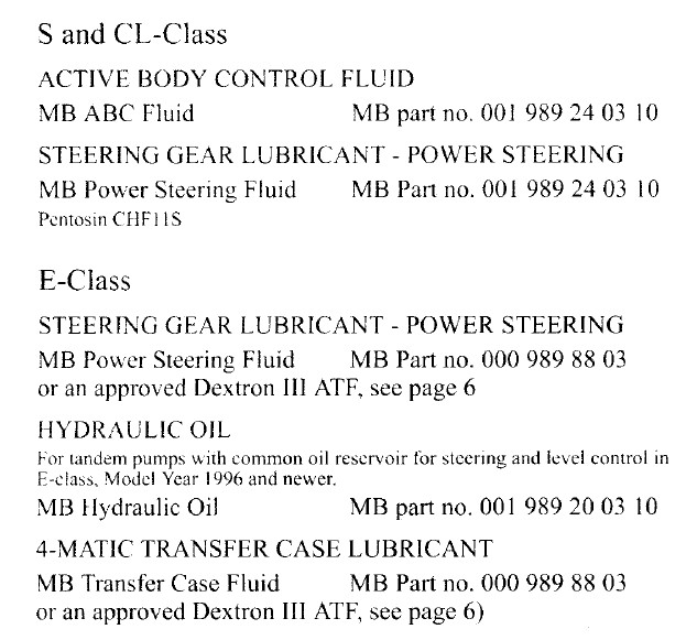 Can ATF be used as power steering fluid? - Mercedes-Benz Forum