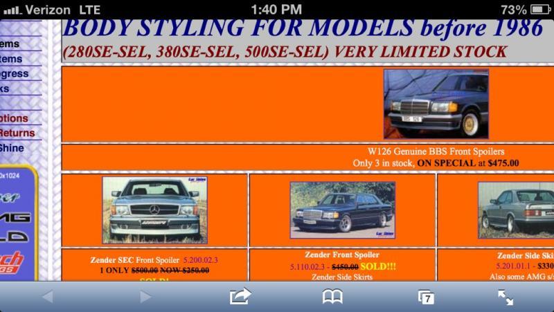 FS/FT: w126 SEC Front Lip Zender Front Spoiler air dam-imageuploadedbyautoguide1365442899.785530.jpg