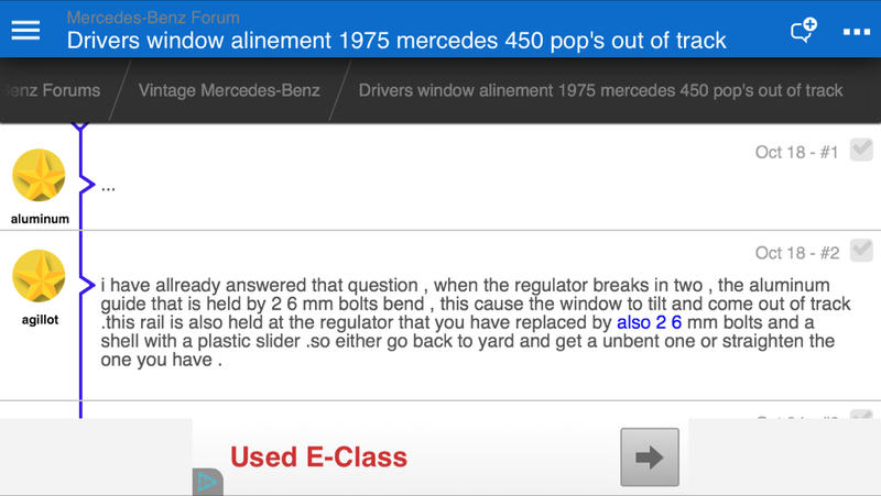 Drivers window alinement 1975 mercedes 450 pop's out of track-imageuploadedbyautoguide1414290496.835023.jpg