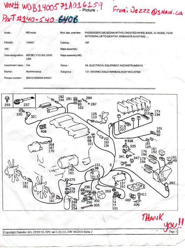 Need S600 Coupe Engine Wiring Harness Electrical Diagram - Page 2