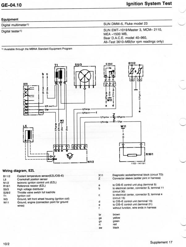 mercede ignition coil wiring diagram