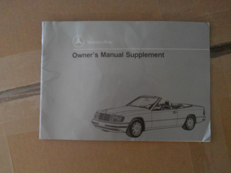 help needed w124 convertible owner manual supplement mercedes rh benzworld org w124 250d owners manual w124 owner's manual pdf