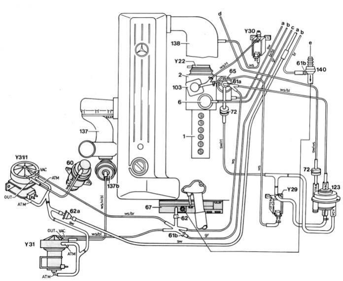 w124 300d vacuum filter  1987