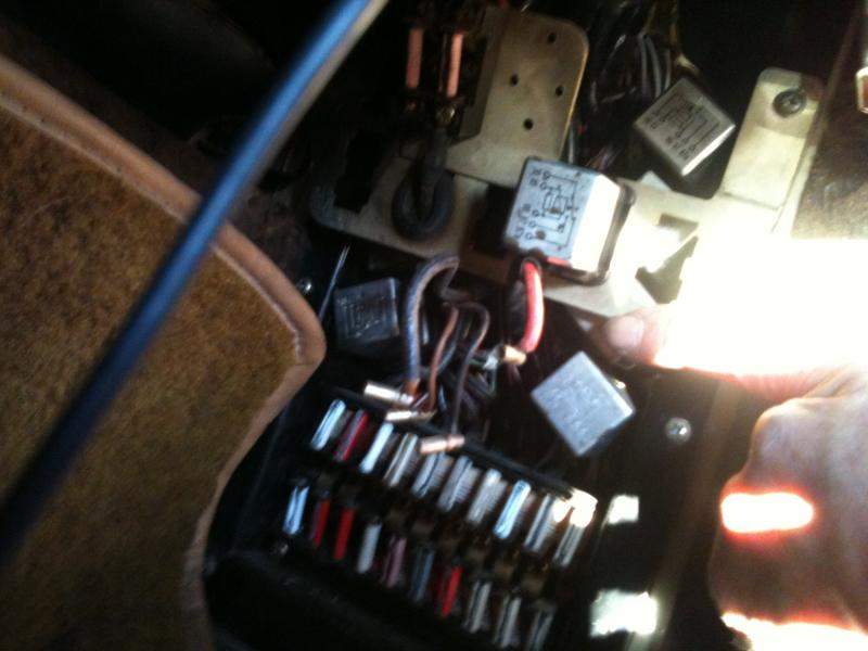 1972 350sl  450sl Fuse Panel Electrical