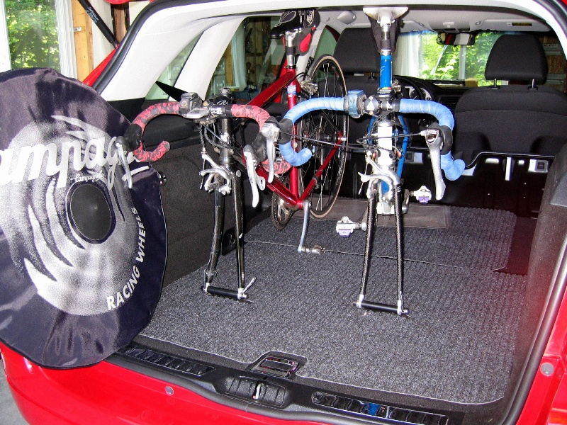 Homemade interior bike rack xterra Nissan xterra bike rack interior