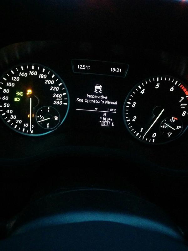 Error Message on Dash while driving - Mercedes-Benz Forum