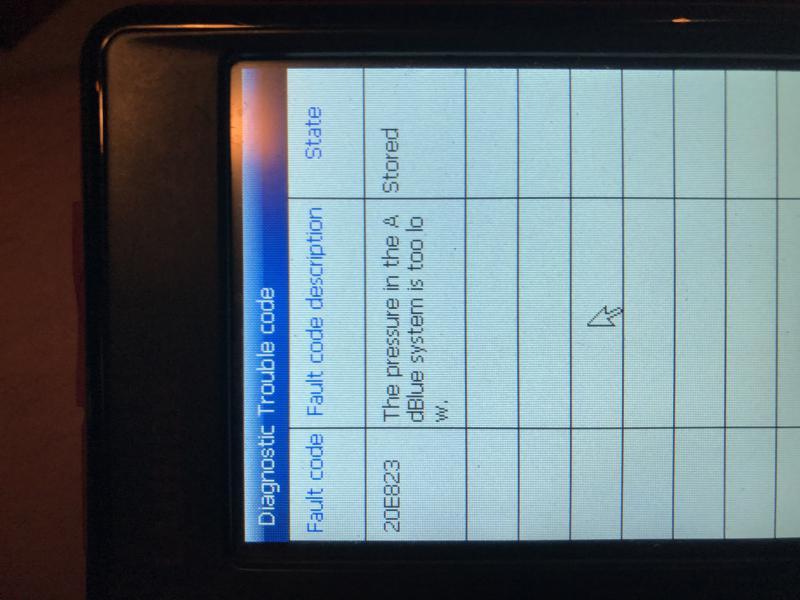 2009 GL320CDI BlueTec Nox Sensor Problem or Catalytic Converter