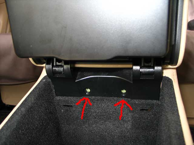 Help Armrest Removal And Fix For Rear Cup Holder