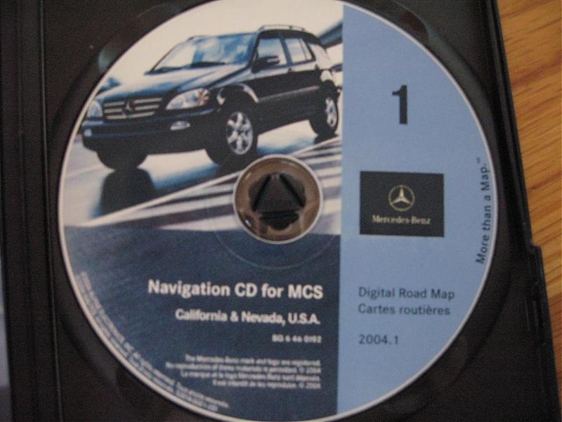 99 05 mercedes ml cd navigation unit cd 2004 1. Black Bedroom Furniture Sets. Home Design Ideas