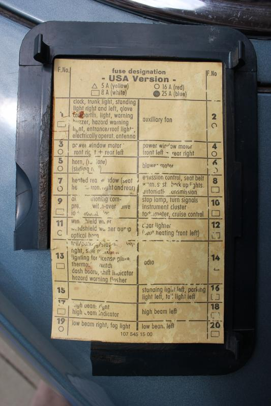 560sl fuse box wiring diagram libraries 450sl fuse box wiring diagram siteneed fuse diagram for 1976 450sl mercedes benz forum 1978 450sl