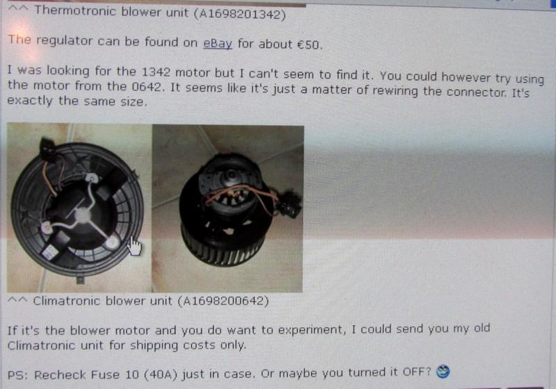 Heater/blower not working - Mercedes-Benz Forum