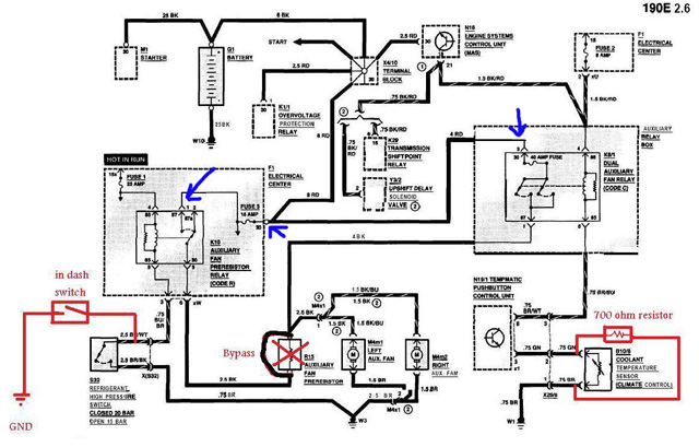 compressor cooling fan wiring diagram with relay can ac compressor and aux fan run at the same time  mercedes  can ac compressor and aux fan run at