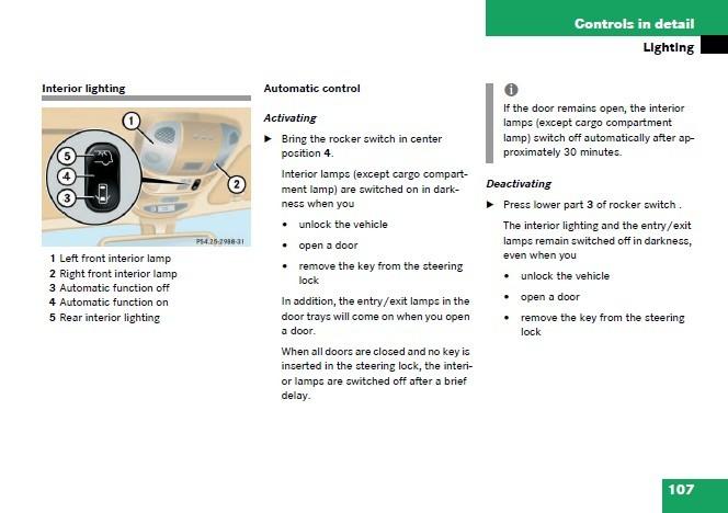 Interior Lights - not working - AAM? - Page 2 - Mercedes-Benz Forum