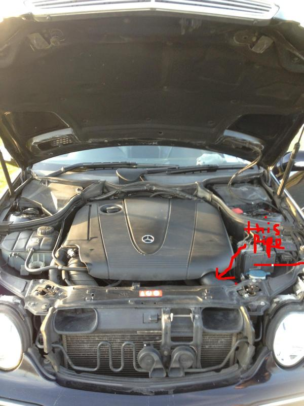 C220 CDi - Which engine hose is this? - Mercedes-Benz Forum