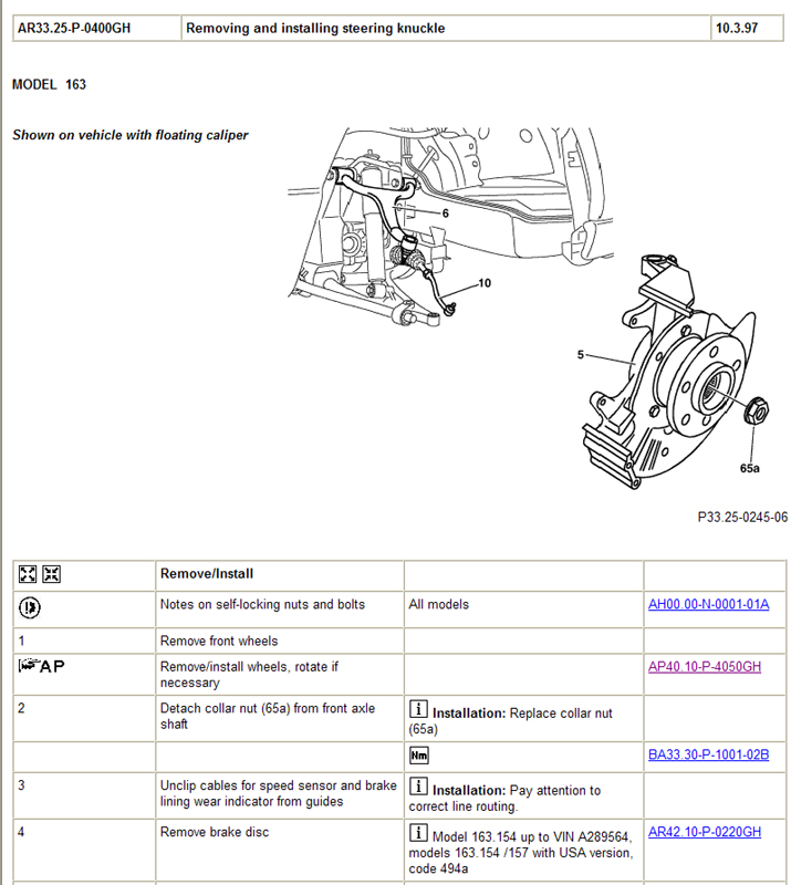How Much To Replace Wheel Bearing >> Replace Front Wheel Bearings ML320?? - Mercedes-Benz Forum