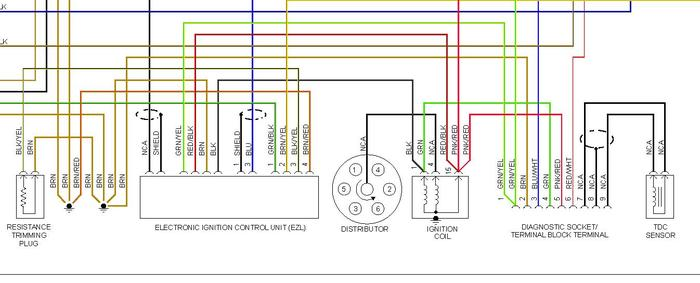 Ignition switch wiring diagram mercedes benz forum for Mercedes benz w124 230e wiring diagram