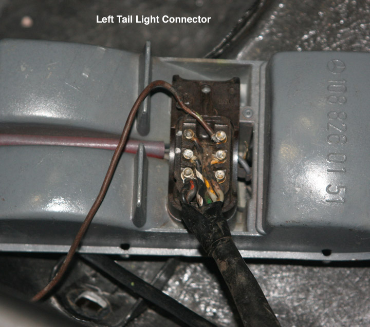 Help with w108 tail light connections mercedes benz forum for Mercedes benz brake light problem