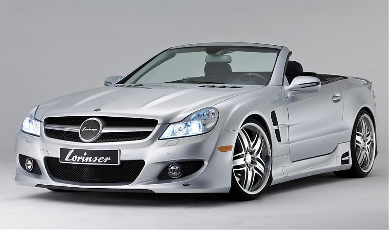 Mercedes Sl500 Black. Lorinser Mercedes SL500-