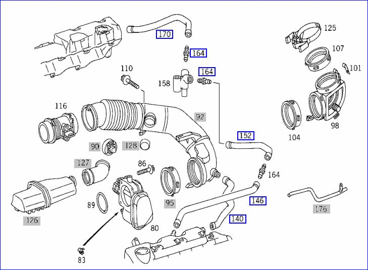 M113 Breather Hose Replacementsm113breatherhosespic: Mercedes M113 Engine Diagram At Goccuoi.net