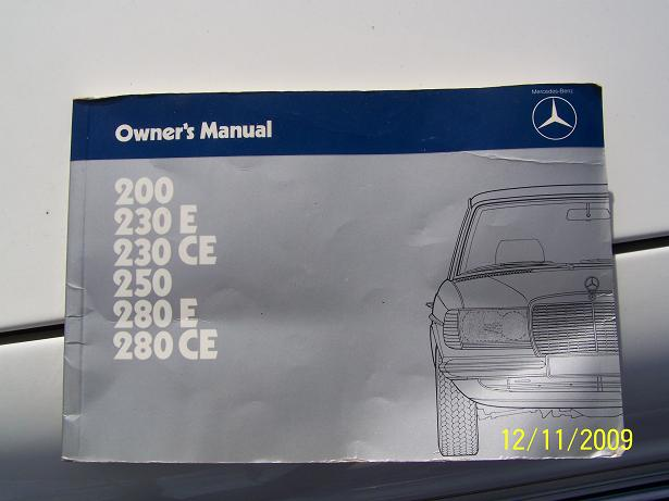 High Quality ... Click Image For Larger Version Name: MB Owners Manual Views: 778  Size