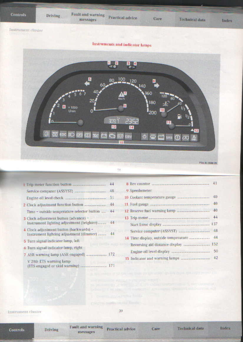 Click image for larger version Name: Merc Instrument cluster.jpg Views:  45007 Size ...