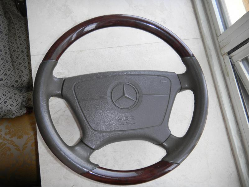 For sale mercedes w140 s600 wood leather steering wheel for Mercedes benz steering wheel for sale