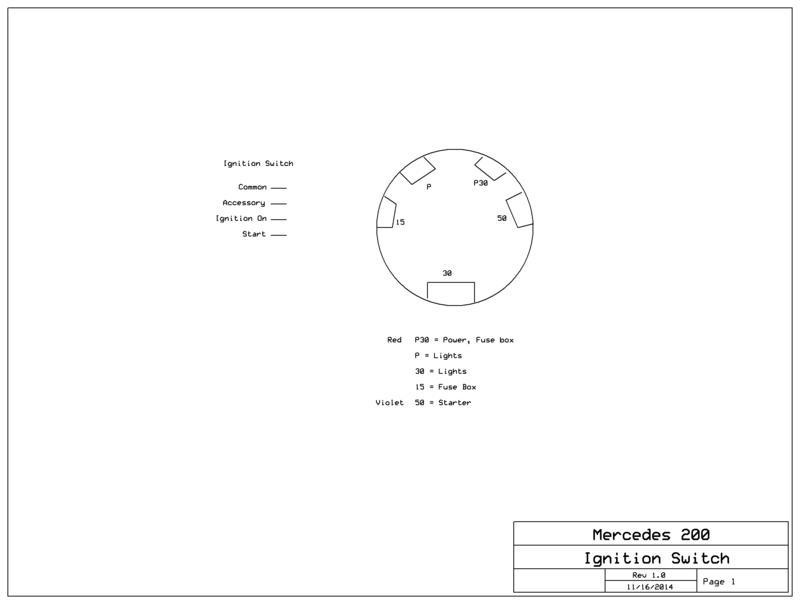 W110 Series 200 Ignition Switch wiring help! - Mercedes-Benz Forum