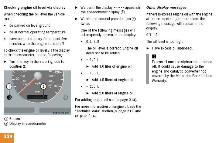 Instrument Cluster Warning Lights Mercedes Benz Forum