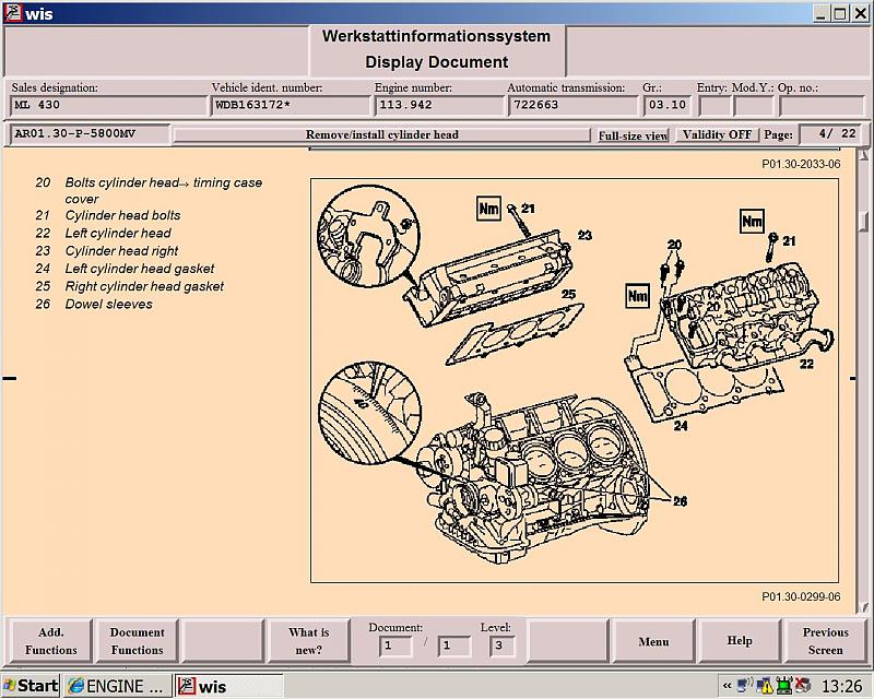 Engine Torque Settings For 99 Ml430 Mercedes Benz Forum